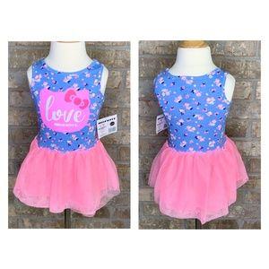 Hello Kitty Girls Tutu Dress Purple w/Pink - J9